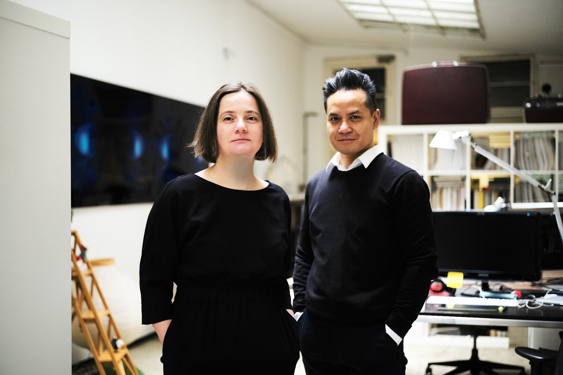 A picture of Birgit Vollmeier and Yudi Warsosumarto. The picture was taken by Andreas Jakwerth